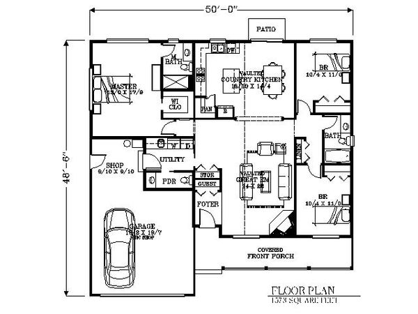 Traditional Floor Plan - Main Floor Plan Plan #53-426