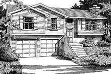 Home Plan - Traditional Exterior - Front Elevation Plan #92-501