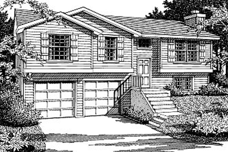 Traditional Exterior - Front Elevation Plan #92-501 - Houseplans.com