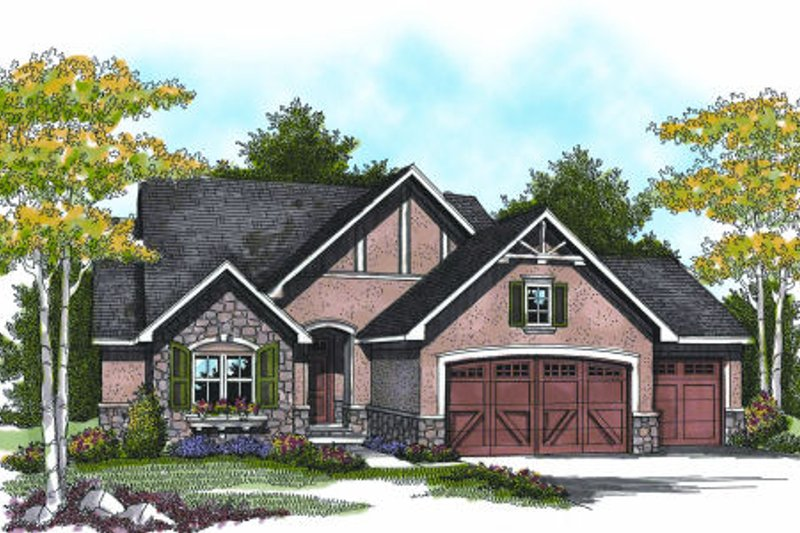 Elevation Plan Ne Demek : European style house plan beds baths sq ft