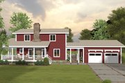Modern Style House Plan - 4 Beds 4.5 Baths 2225 Sq/Ft Plan #56-723 Exterior - Rear Elevation