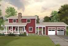 Architectural House Design - Modern Exterior - Rear Elevation Plan #56-723