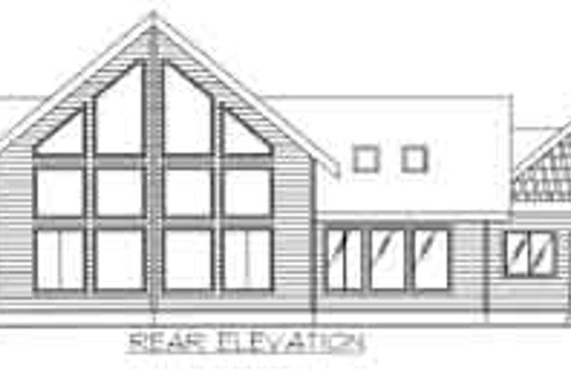 Traditional Exterior - Rear Elevation Plan #117-462 - Houseplans.com