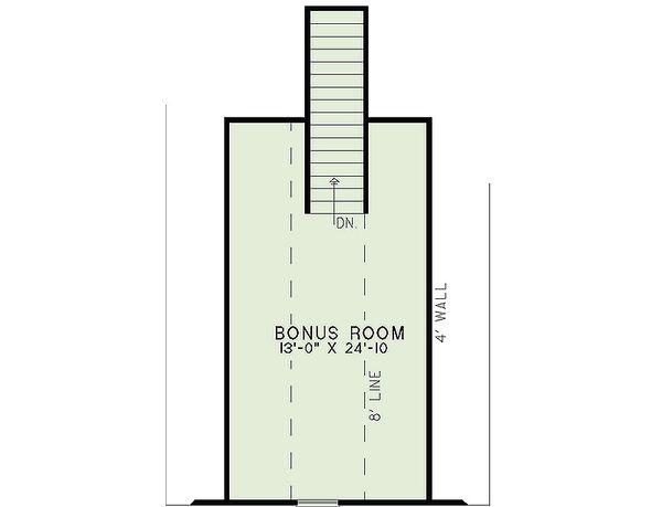 Craftsman Floor Plan - Upper Floor Plan Plan #17-2463