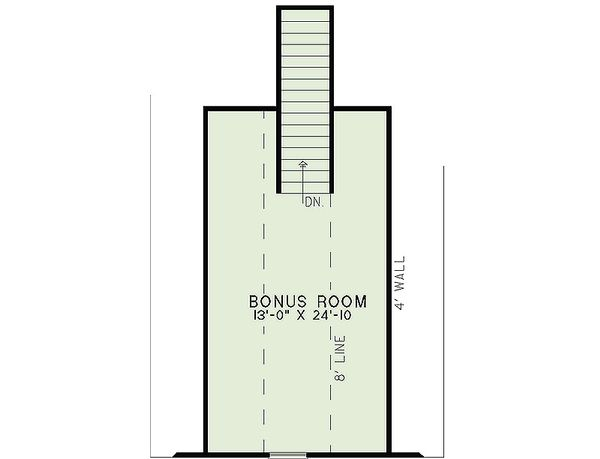 Craftsman Floor Plan - Upper Floor Plan #17-2463