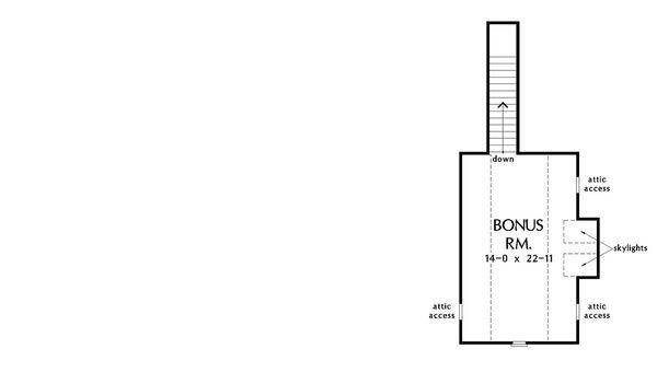European Floor Plan - Upper Floor Plan Plan #929-1021