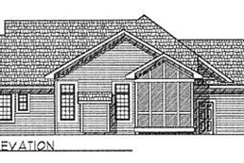Traditional Exterior - Rear Elevation Plan #70-188 - Houseplans.com