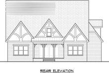 Dream House Plan - Tudor Exterior - Rear Elevation Plan #413-136