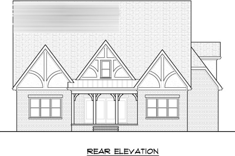 Tudor Exterior - Rear Elevation Plan #413-136 - Houseplans.com