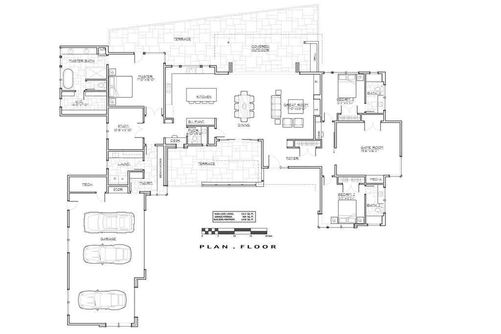 Modern Floor Plan   Main Floor Plan Plan #892 14