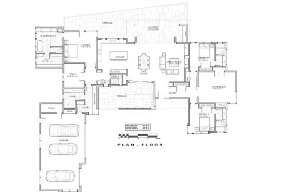 House Plan Design - Modern Floor Plan - Main Floor Plan #892-14