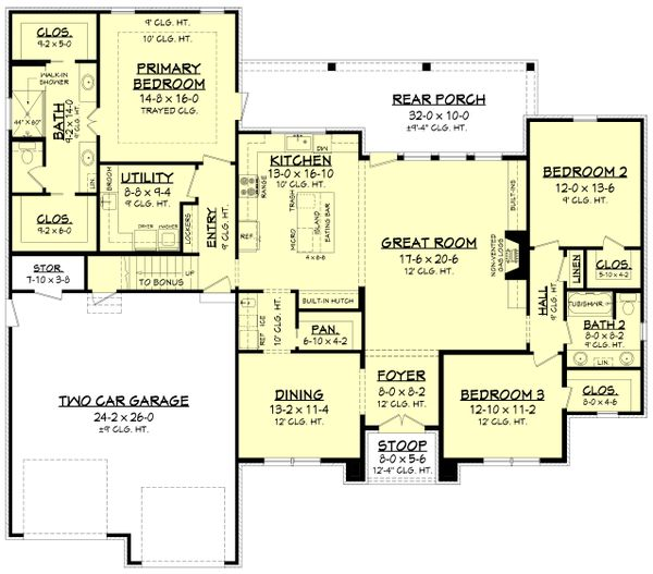 Farmhouse Floor Plan - Main Floor Plan Plan #430-235
