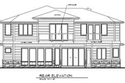 Prairie Style House Plan - 5 Beds 3.5 Baths 4093 Sq/Ft Plan #509-18 Exterior - Rear Elevation
