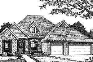 Traditional Exterior - Front Elevation Plan #310-933