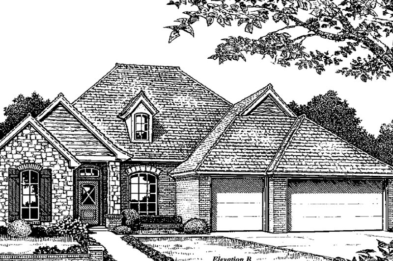 Traditional Style House Plan - 4 Beds 3 Baths 2197 Sq/Ft Plan #310-933 Exterior - Front Elevation