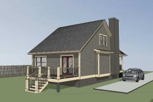 House Plan Design - Cottage Exterior - Rear Elevation Plan #79-140