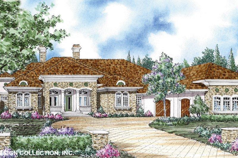 House Plan Design - Mediterranean Exterior - Front Elevation Plan #930-265