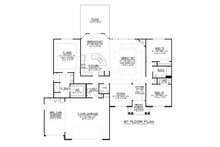 Ranch Floor Plan - Main Floor Plan Plan #1064-43