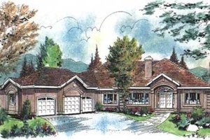 Traditional Exterior - Front Elevation Plan #18-9124