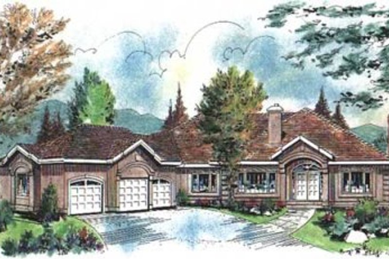 Traditional Style House Plan - 3 Beds 2 Baths 2767 Sq/Ft Plan #18-9124 Exterior - Front Elevation