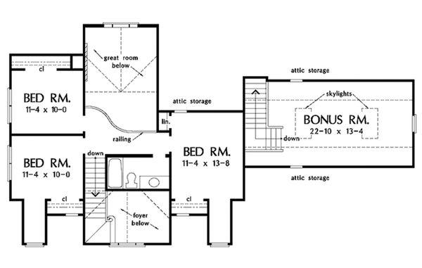 Dream House Plan - Country Floor Plan - Upper Floor Plan #929-215