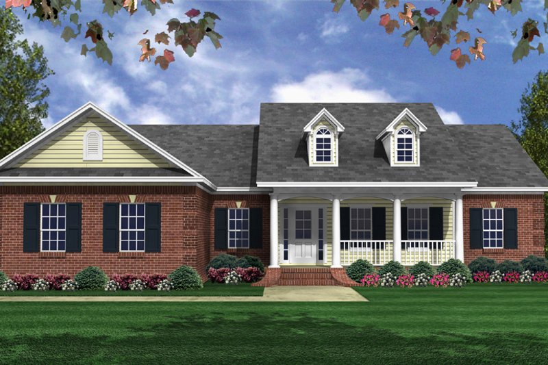 House Design - Traditional Exterior - Front Elevation Plan #21-446