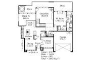 Modern Style House Plan - 3 Beds 3.5 Baths 2662 Sq/Ft Plan #509-11 Floor Plan - Main Floor Plan