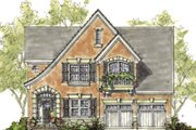 European Style House Plan - 3 Beds 2.5 Baths 2051 Sq/Ft Plan #20-1231 Exterior - Front Elevation
