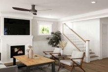 Dream House Plan - Tudor Interior - Family Room Plan #1079-3