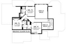 Craftsman Floor Plan - Upper Floor Plan Plan #70-1060