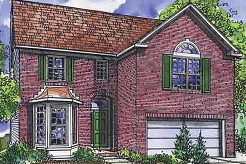 Traditional Exterior - Front Elevation Plan #320-471 - Houseplans.com