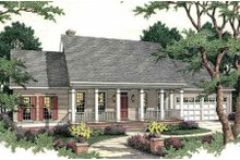 Southern Exterior - Front Elevation Plan #406-270