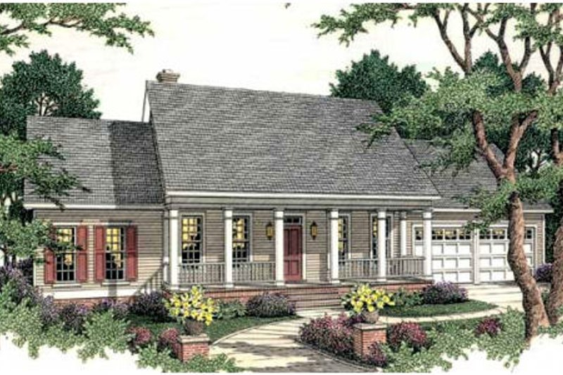 Dream House Plan - Southern Exterior - Front Elevation Plan #406-270