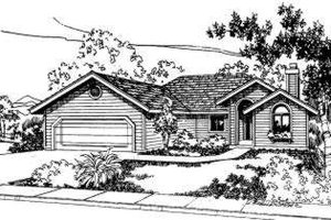 Traditional Exterior - Front Elevation Plan #303-307