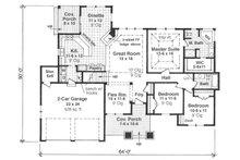 Craftsman Floor Plan - Main Floor Plan Plan #51-517