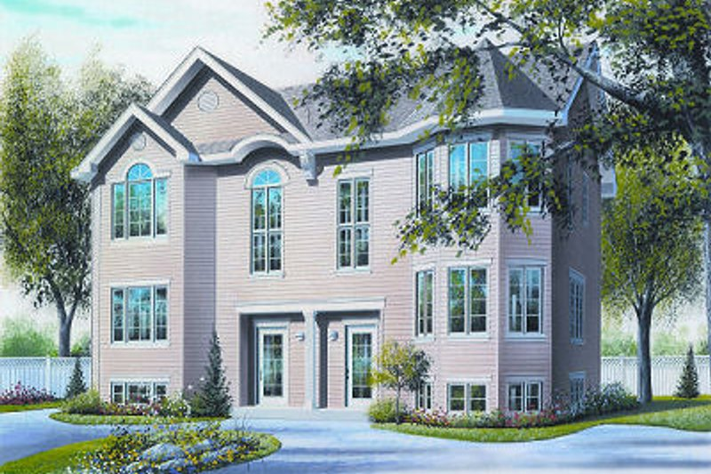 European Exterior - Front Elevation Plan #23-682
