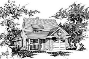 Traditional Exterior - Front Elevation Plan #329-207
