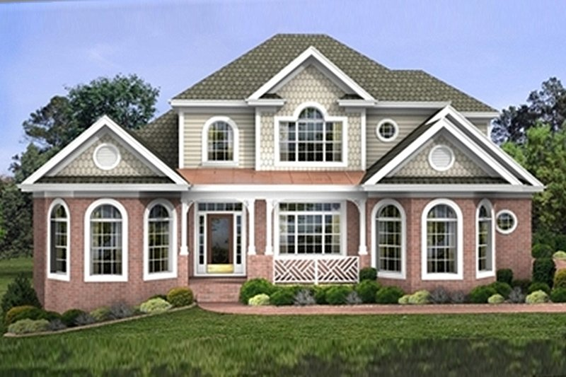 Architectural House Design - Traditional Exterior - Front Elevation Plan #56-540
