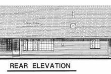 House Blueprint - Ranch Exterior - Rear Elevation Plan #18-1020