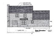 Traditional Style House Plan - 3 Beds 2.5 Baths 1698 Sq/Ft Plan #46-122 Exterior - Rear Elevation
