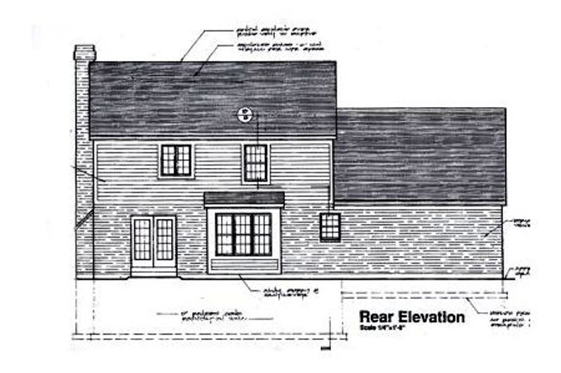 Traditional Exterior - Rear Elevation Plan #46-122 - Houseplans.com