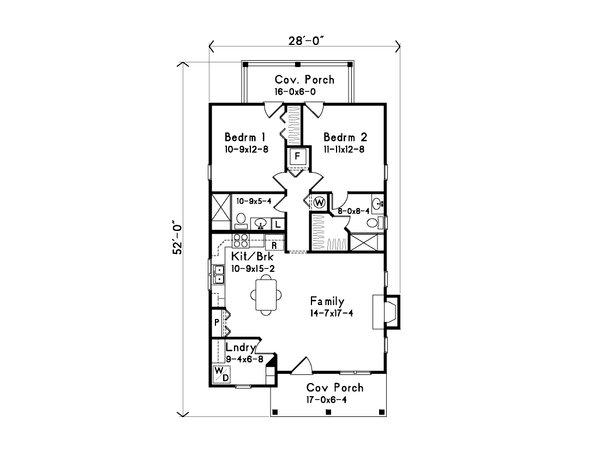 Cottage Floor Plan - Main Floor Plan #22-568