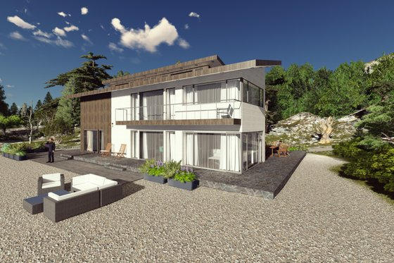 Modern Exterior - Front Elevation Plan #549-5