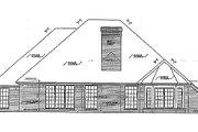 European Style House Plan - 4 Beds 2.5 Baths 2214 Sq/Ft Plan #310-210 Exterior - Rear Elevation