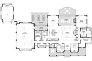 Bungalow Style House Plan - 4 Beds 3.5 Baths 4414 Sq/Ft Plan #928-340 Floor Plan - Main Floor Plan