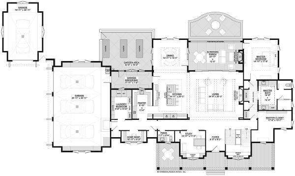 House Design - Farmhouse Floor Plan - Main Floor Plan #928-340