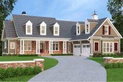 Country Style House Plan - 4 Beds 3.5 Baths 2834 Sq/Ft Plan #927-942 Exterior - Front Elevation