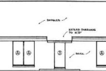 Ranch Exterior - Rear Elevation Plan #45-233