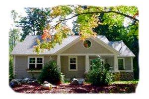 Cottage Exterior - Front Elevation Plan #49-123