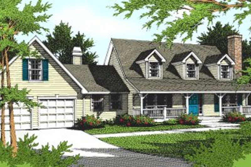 Country Exterior - Front Elevation Plan #94-204